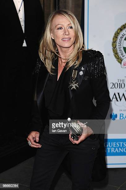 Karen Millen attends the Professional Footballers' Association Awards at the Grosvenor House Hotel on April 25 2010 in London England