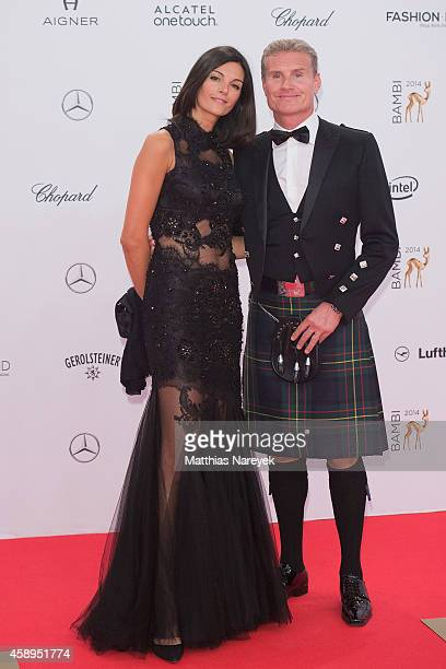 Karen Minier and David Coulthard attend the Bambi Awards 2014 on November 13 2014 in Berlin Germany