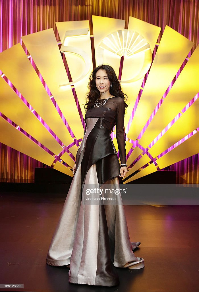 <a gi-track='captionPersonalityLinkClicked' href=/galleries/search?phrase=Karen+Mok&family=editorial&specificpeople=574429 ng-click='$event.stopPropagation()'>Karen Mok</a> at Mandarin Oriental Hong Kong's 50th Anniversary Gala on October 17, 2013 in Hong Kong.
