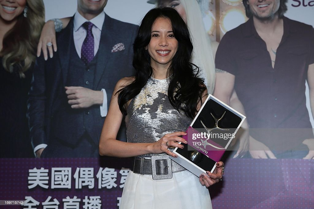 Karen Mok propagandized for 'American Idol' on Friday January 18,2013 in Taipei Taiwan, China.
