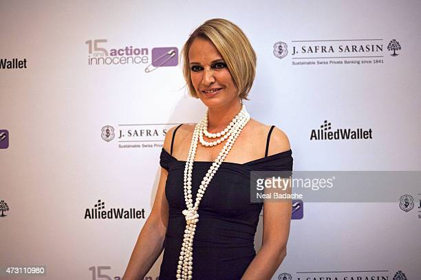 Karen Mulder attends the Soiree De Gala Action Innocence at Hotel Intercontinental on May 12 2015 in Geneva Switzerland
