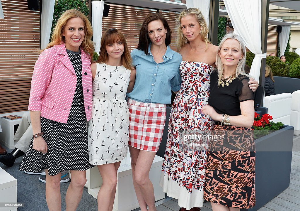 Karen Mulliagan, Christina Ricci, Jill Demling, Meredith Melling Burke and Susan Joy attend Rooftop @ Revere Launch Party at The Revere Hotel on May 18, 2013 in Boston, Massachusetts.