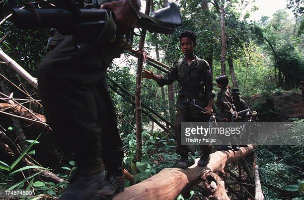 Karen National Union soldiers on patrol