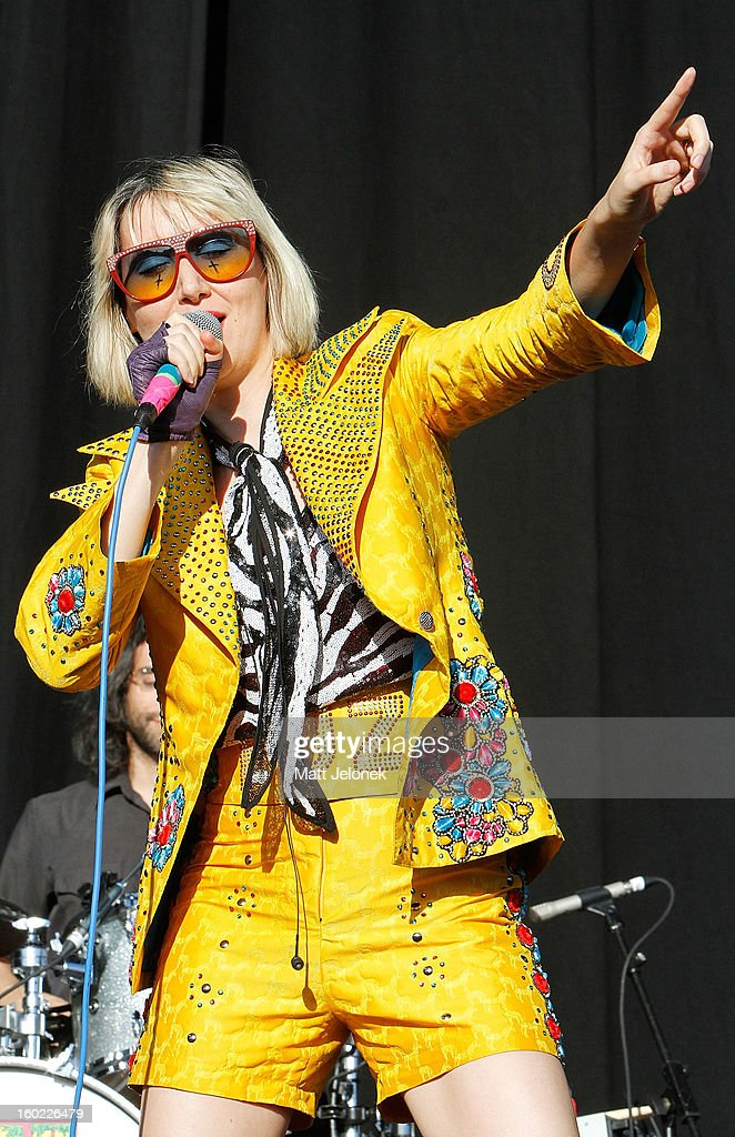 <a gi-track='captionPersonalityLinkClicked' href=/galleries/search?phrase=Karen+O&family=editorial&specificpeople=213098 ng-click='$event.stopPropagation()'>Karen O</a> of the band Yeah Yeah Yeahs performs during Big Day Out at Claremont Showgrounds on January 28, 2013 in Perth, Australia.