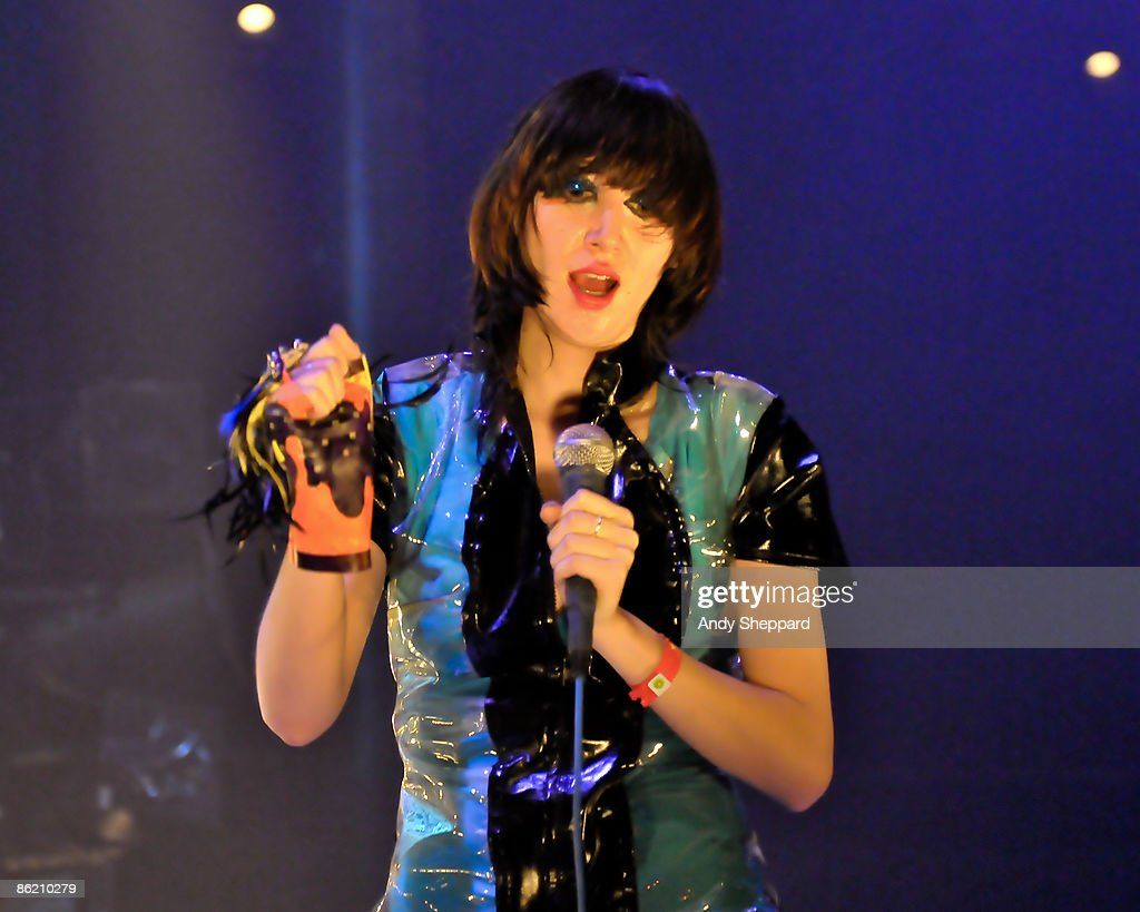 Karen O of Yeah Yeah Yeahs performs at the Roundhouse as part of the Camden Crawl as part of the Camden Crawl on April 24 2009 in London England