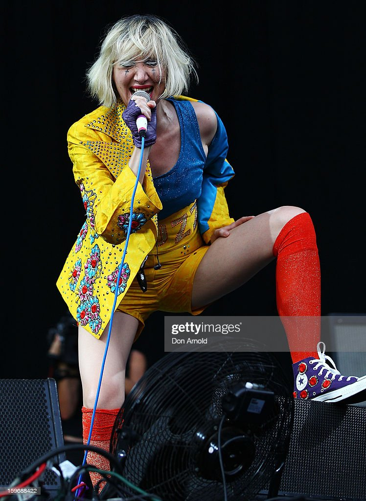 Karen O of Yeah Yeah Yeahs performs live on stage at Big Day Out 2013 at Sydney Showground on January 18, 2013 in Sydney, Australia.