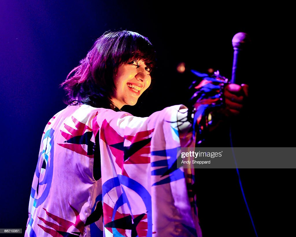 Karen O of Yeah Yeah Yeahs performs on stage at the Roundhouse as part of the Camden Crawl as part of the Camden Crawl on April 24 2009 in London...