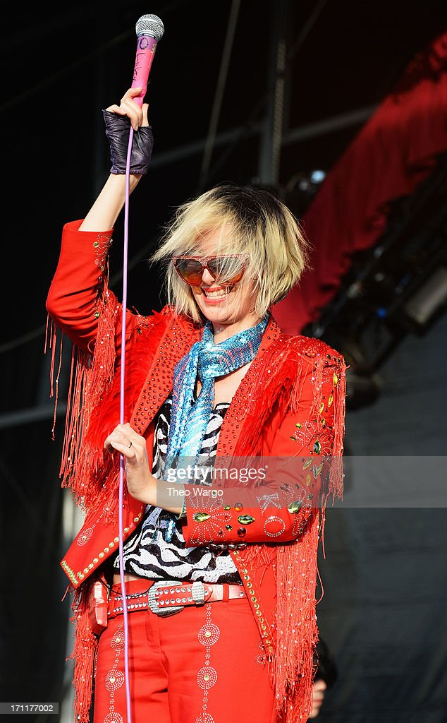 Karen Orzolek of the Yeah Yeah Yeahs performs onstage at the Firefly Music Festival at The Woodlands of Dover International Speedway on June 22, 2013 in Dover, Delaware.