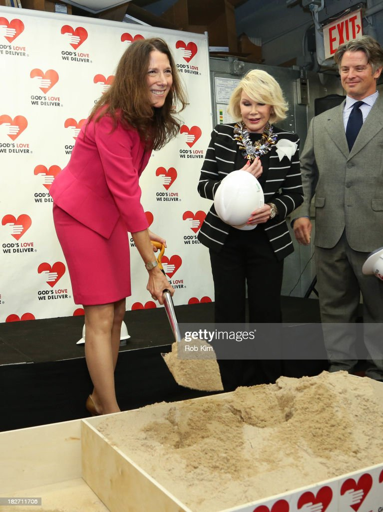 Karen Pearl (L) and <a gi-track='captionPersonalityLinkClicked' href=/galleries/search?phrase=Joan+Rivers&family=editorial&specificpeople=159403 ng-click='$event.stopPropagation()'>Joan Rivers</a> attend the Expansion Project Groundbreaking Ceremony at God's Love We Deliver on October 2, 2013 in New York City.