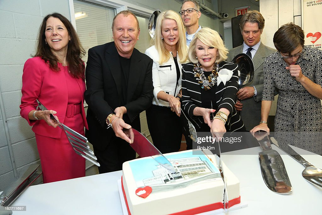 Karen Pearl, Michael Kors, Blaine Trump, Scott Bruckner (rear) and Joan Rivers attend the Expansion Project Groundbreaking Ceremony at God's Love We Deliver on October 2, 2013 in New York City.