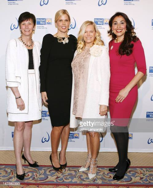 Karen Peetz Mary Alice Stephenson Avis Richards and Ivette Fernandez attend the United Way Of New York City's Women's Leadership Council's 6th annual...