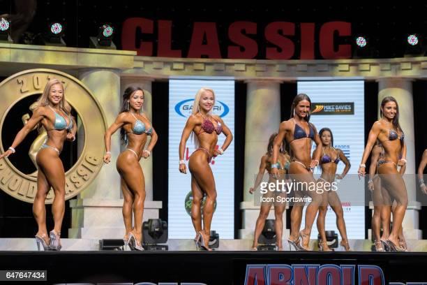 Karen Pham Jessica Suarez Malgorzata Flis Meghan Polce and Vanesa Campea compete in Amateur Bikini A at the Arnold Amateur IFBB / NPC International...