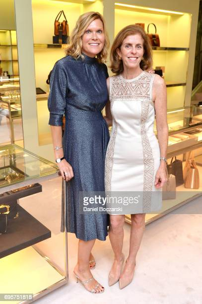 Karen Riley McEniry and Diane Reilly attend Prada Chicago x University Of Chicago Cancer Research Foundation Event at Prada Chicago on June 13 2017...