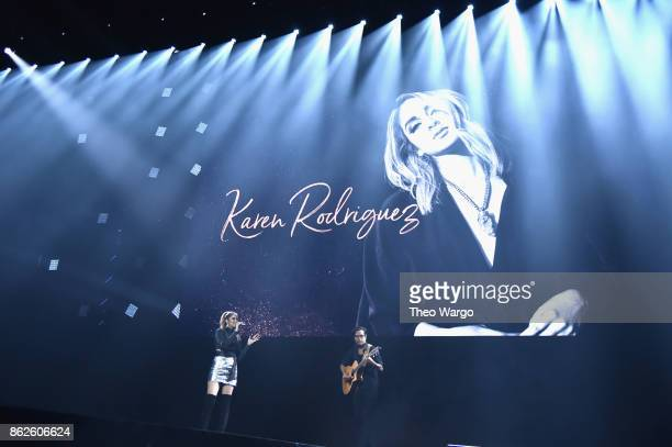 Karen Rodriguez performs onstage during TIDAL X Brooklyn at Barclays Center of Brooklyn on October 17 2017 in New York City