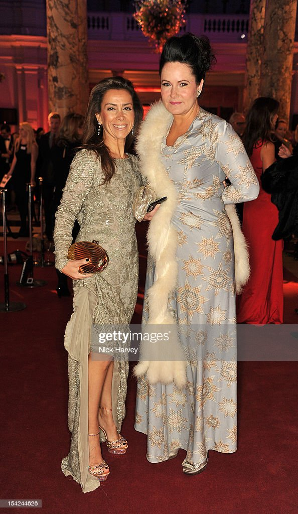 karen Ruimy (L)and Hermione Rossattends the Hollywood Costume gala dinner at the Victoria & Albert Museum on October 16, 2012 in London, England.