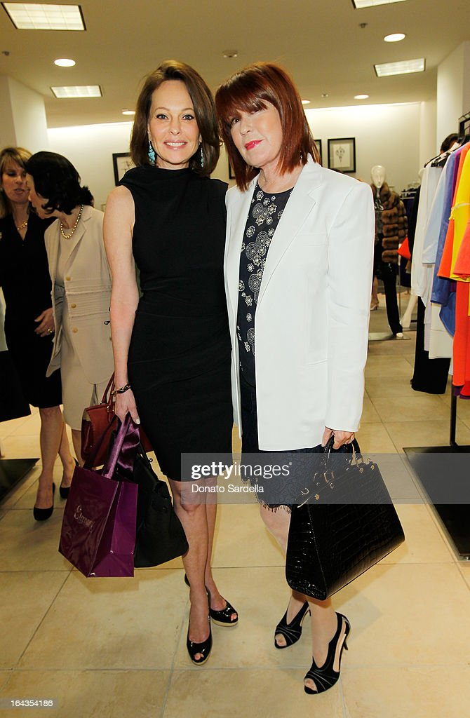 Karen Sanders and Mary Martin attend Saks Fifth Avenue presents designer Ralph Rucci at Saks Fifth Avenue Beverly Hills on March 22, 2013 in Beverly Hills, California.