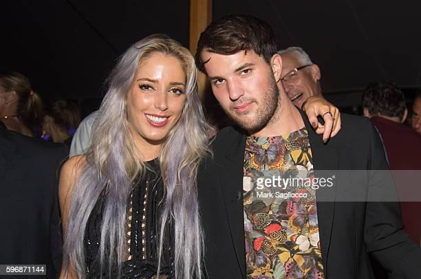 Karen Shiboleth and Just Drew Designer Andrew Warren attend VH1 Save The Music Hamptons Live 2016 on August 27 2016 in Sagaponack New York