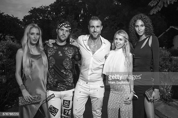 Karen Shiboleth Andrew Warren Philipp Plein Natalie Jackson and Model Cindy Bruna attend Daily Front Row's Philipp Plein Dinner on July 16 2016 at...