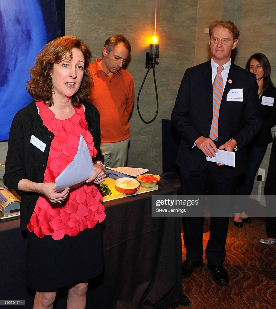 Karen Spear, David Shalleck and Shay Zak (L-R) attend the Syracuse University's San Francisco Donor Reception at Waterbar Restaurant on February 5, 2013 in San Francisco, California.