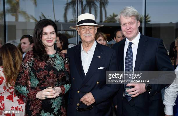 Karen Spencer Countess Spencer Gerald McRaney and Charles 9th Earl of Spencer attends the BBC America BAFTA Los Angeles TV Tea Party 2017 at The...