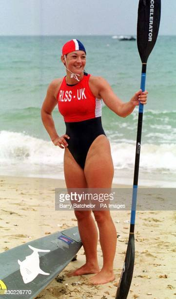 Karen Steer from Poole Dorset gets ready to take part in the inaugural European Life Saving Championships as more than 100 of the bravest and best...