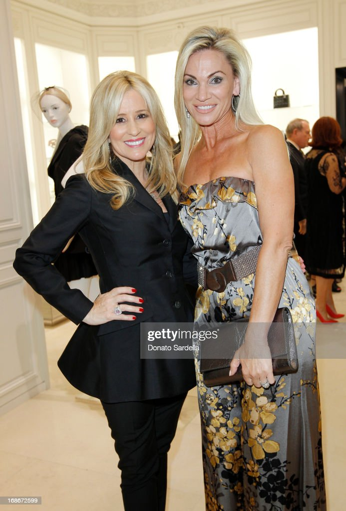 Karen Watkins and Jennifer Condas attend Dior celebrates the opening of Dior Couture Patrick Demarchelier Exhibition at the Dior store at South Coast Plaza May 10, 2013 in Costa Mesa, California.