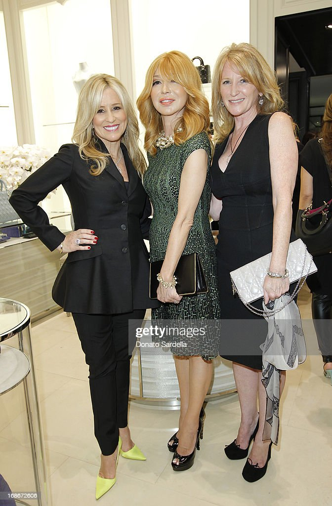 Karen Watkins, Elizabeth Segerstrom and Jennifer Segerstrom attend Dior celebrates the opening of Dior Couture Patrick Demarchelier Exhibition at the Dior store at South Coast Plaza May 10, 2013 in Costa Mesa, California.