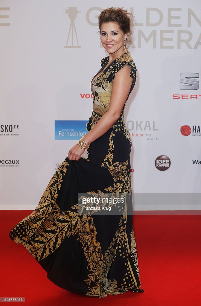 Karen Webb attends the Goldene Kamera 2016 on February 6, 2016 in Hamburg, Germany.