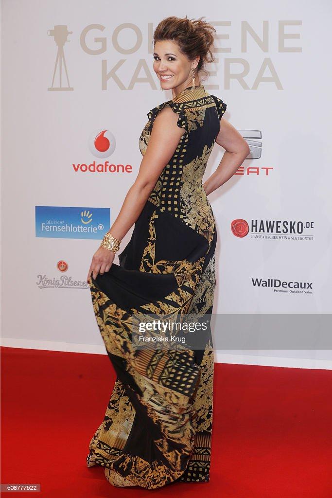 Karen Webb attends the Goldene Kamera 2016 on February 6, 2016 in Hamburg, Germany.