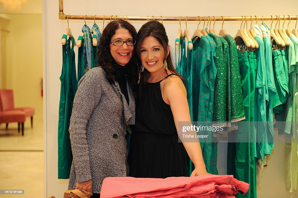 Karen Zuckerberg and Randi Zuckerberg attends 'A Balanced Life' discussion panel event at Calypso St. Barth at Stanford Shopping Center on April 18, 2013 in Palo Alto, California.