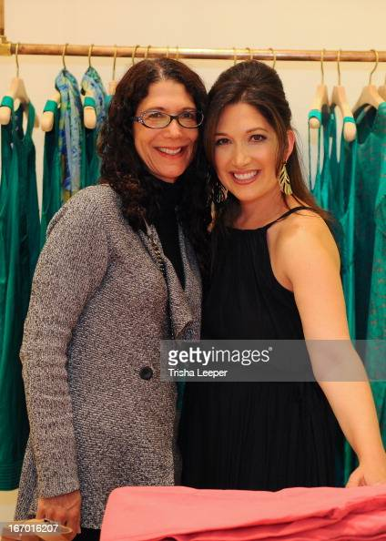 Karen Zuckerberg and Randi Zuckerberg attends 'A Balanced Life' discussion panel event at Calypso St Barth at Stanford Shopping Center on April 18...