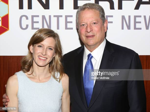 Karenna Gore Schiff and Al Gore attend the 12th Annual James Parks Morton Interfaith awards dinner at Hilton Hotel Midtown on June 5 2014 in New York...