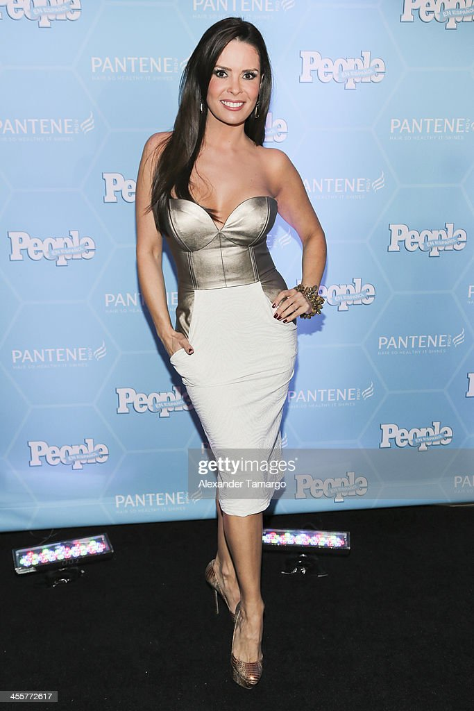 Karent Sierra arrives at the Estrellas Del Ano De People En Espanol party at The James Royal Palm Hotel on December 12, 2013 in Miami, Florida.