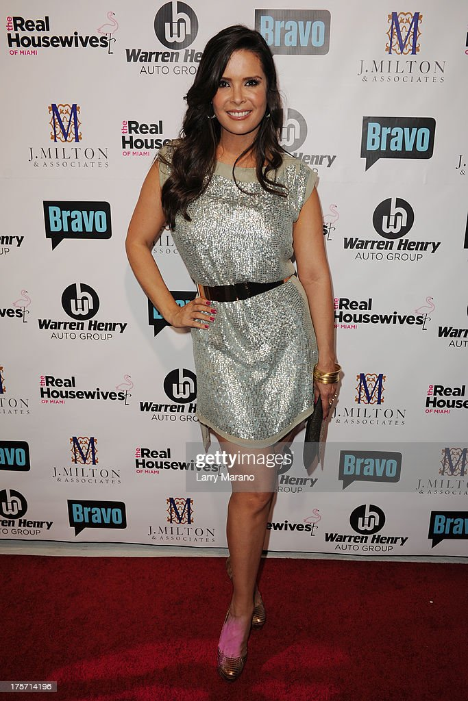 <a gi-track='captionPersonalityLinkClicked' href=/galleries/search?phrase=Karent+Sierra&family=editorial&specificpeople=7158678 ng-click='$event.stopPropagation()'>Karent Sierra</a> attends 'The Real Housewives of Miami' season 3 premiere party on August 6, 2013 in Miami, Florida.