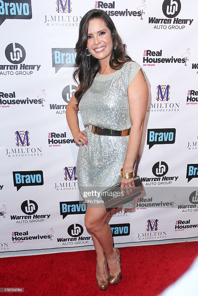 <a gi-track='captionPersonalityLinkClicked' href=/galleries/search?phrase=Karent+Sierra&family=editorial&specificpeople=7158678 ng-click='$event.stopPropagation()'>Karent Sierra</a> attends The Real Housewives of Miami Season 3 Premiere Party on August 6, 2013 in Miami, Florida.