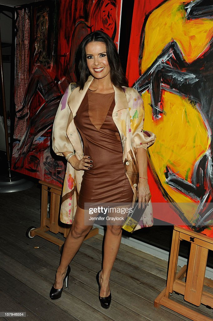 Karent Sierra of Real Housewives of Miami attends the Domingo Zapata Installation at The W hosted by Haute Living and Hublot at SLS South Beach on December 7, 2012 in Miami, United States.