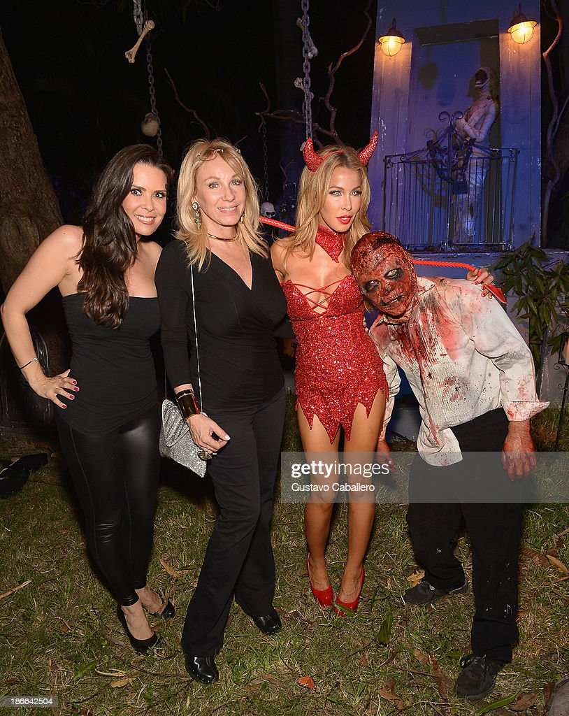 Karent Sierra,Lea Black and Lisa Hochstein attend Lisa Hochstein of 'Real Housewives of Miami' and Lenny Hochstein's Halloween Ball benefitting the Make-A-Wish Foundation on November 1, 2013 in Miami Beach, Florida.