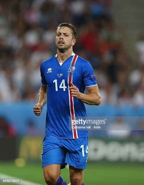 Kari Arnason of Iceland during the UEFA EURO 2016 Round of 16 match between England and Iceland at Allianz Riviera Stadium on June 27 2016 in Nice...