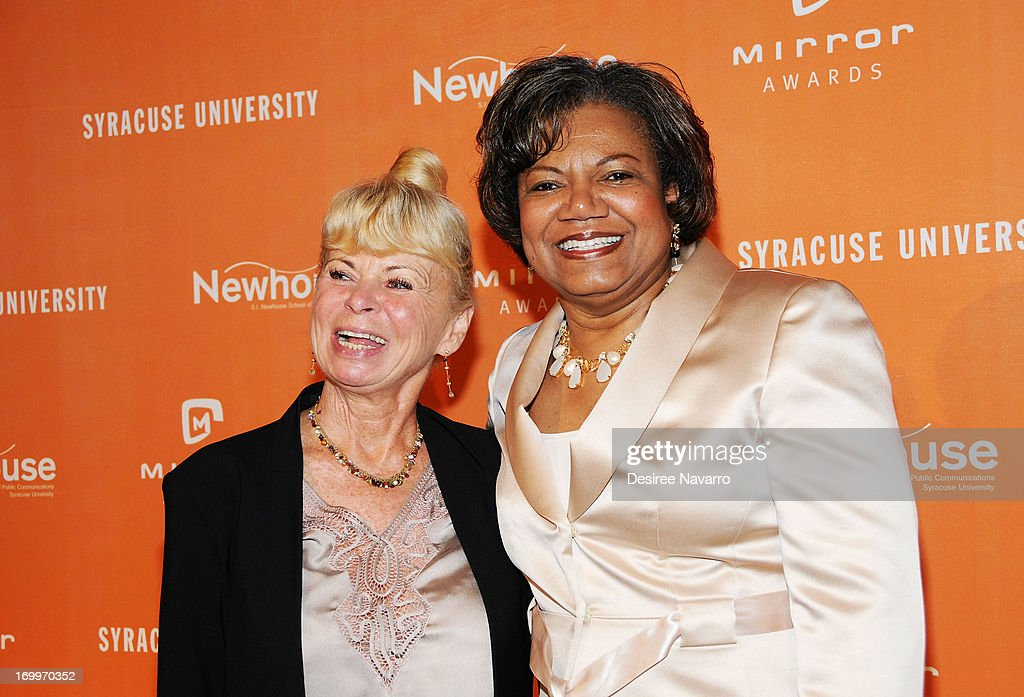 Kari Clark and Dean at SI Newhouse School of Public Communications Lorraine Branham attend the 2013 Newhouse Mirror Awards Luncheon at Cipriani 42nd...