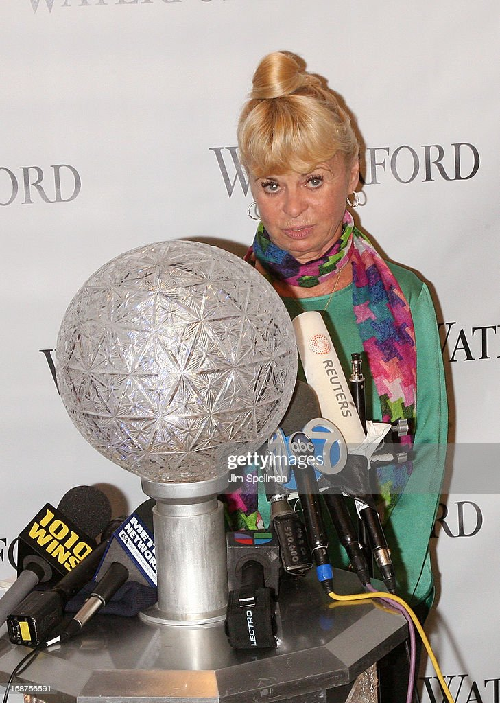 Kari Clark attends the installation of 288 New Waterford Crystals on the 2013 Times Square New Year's Eve Ball at One Times Square on December 27...