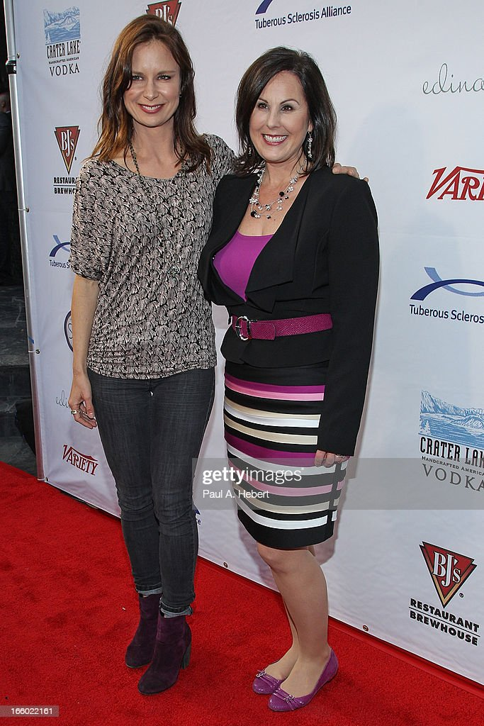 Kari Luther Rosbeck, CEO Tuberous Sclerosis Alliance and actress Mary Lynn Rajskub attend the Comedy for a Cure benefit held at Lure on April 7, 2013 in Hollywood, California.