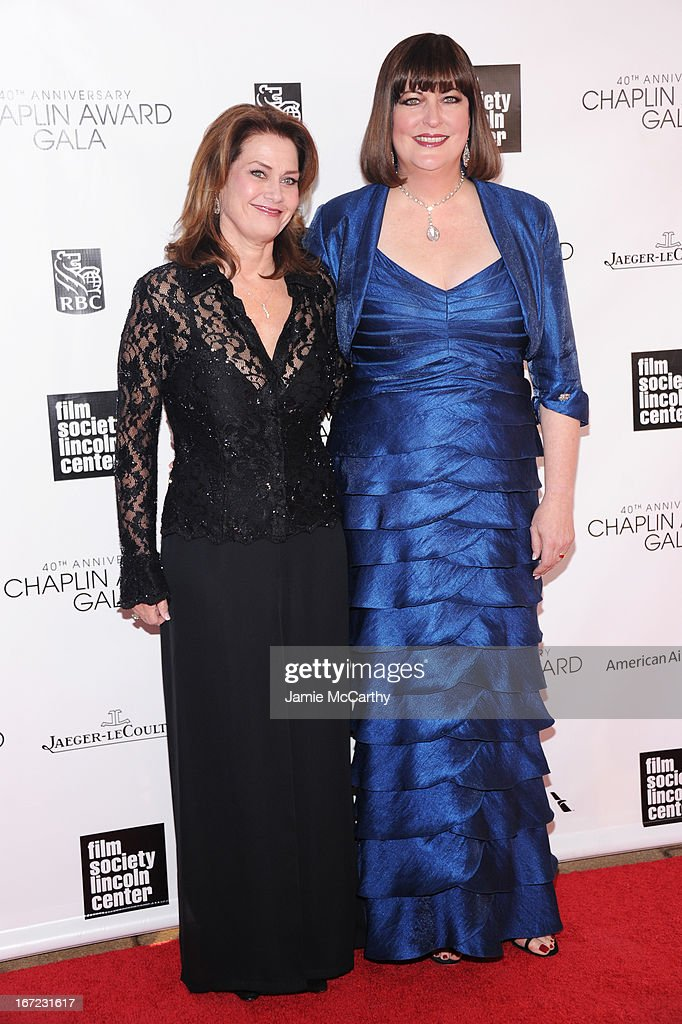 Kari Strand (L) and Ann Hampton Callaway attend the 40th Anniversary Chaplin Award Gala at Avery Fisher Hall at Lincoln Center for the Performing Arts on April 22, 2013 in New York City.