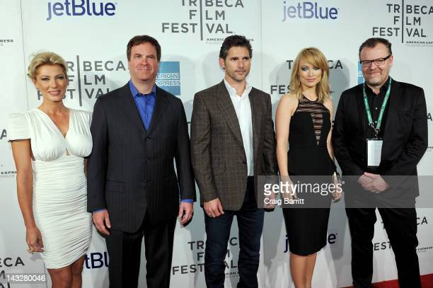 Kari Wagner producer Todd Wagner actor Eric Bana actress Olivia Wilde and director Stefan Ruzowitzky attend the 'DeadFall' Premiere during the 2012...