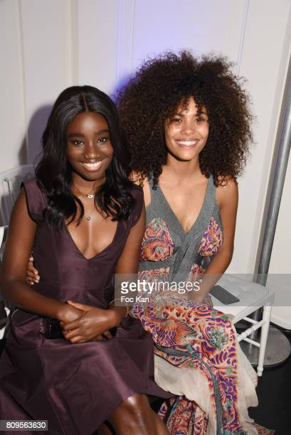 Karidja Toure and Tina Kunakey attend the Jean Paul Gaultier Haute Couture Fall/Winter 20172018 show as part of Haute Couture Paris Fashion Week on...