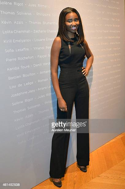 Karidja Toure attends the 'Cesar Revelations 2015' Cocktail Party at Salons Chaumet on January 12 2015 in Paris France