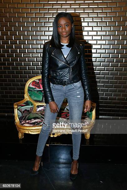 Karidja Toure attends the Jean Paul Gaultier Haute Couture Spring Summer 2017 show as part of Paris Fashion Week on January 25 2017 in Paris France