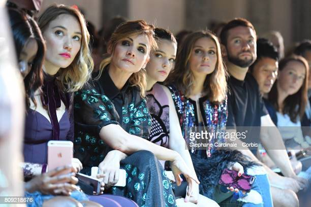 Karidja Toure Deborah Francois Clotilde Courau Roxane Mesquida and Olivia Palermo attend the Elie Saab Haute Couture Fall/Winter 20172018 show as...