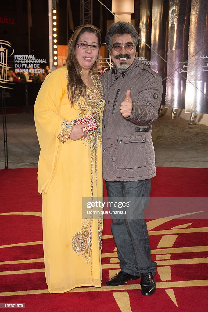 Karim Abouobayd and his wife arrive to the Tribute To Chinese Director Zhang Yimou during the 12th International Marrakech Film Festival on December 2, 2012 in Marrakech, Morocco.