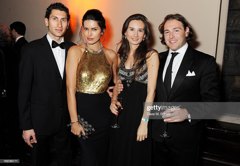 Karim Al Fayed, Brenda Costa, Olga Donskova and Nathan Halfon attend The Jasmine Ball in aid of UNICEF's Children of Syria Emergency Appeal at One Mayfair on March 7, 2013 in London, England.