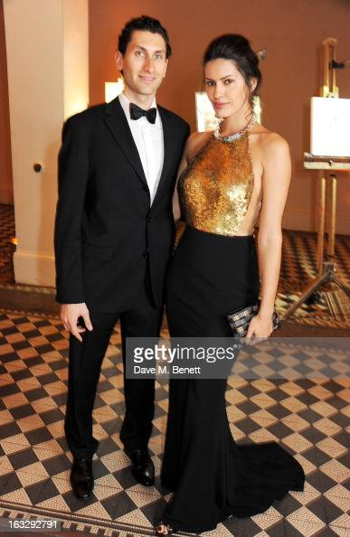 Karim AlFayed and Brenda Costa attend The Jasmine Ball in aid of UNICEF's Children of Syria Emergency Appeal at One Mayfair on March 7 2013 in London...